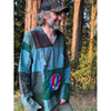 Ten Jed Cotton Stonewash Patchwork Men's Hoody With Embroidered Steal Your Face