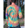 Candy Man Cotton Long Sleeve Tie Dyed Men's T-shirt With Embroidery