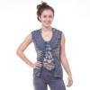 Salle Lotus Stonewash Razor Cut Cotton Front Tie Vest