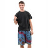 Solar Shorts: Rayon Men's Shorts With Elastic Waist Mudmee Hand Tie Dye