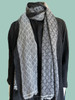 Pashmina Blend Shawl Grey\Black Diamond Pattern Blend