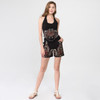 EDEN MAY SHORTS- Cotton Lycra Shorts with Pockets and  Flower Cut Out And Embroidery Detail