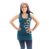 RAINBOW OLLIE TOP- Cotton Lycra Long Tank Top With Half Cut Out Flower Tie Dye