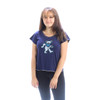 MONET TOP- Cotton t-shirt with Bear Print and Stitching