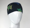 Cotton Lycra Flat Headband with Printed Bear, Bolt or SYF