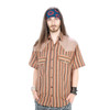 NEIL SHIRT-Cotton Striped Jacquard Short Sleeve Shirt