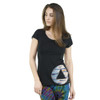 HEY YOU - Cotton Lycra T-Shirt with Dark Side of the Moon Logo