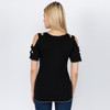 Cotton Lycra Open Shoulder T-shirt with Dark Side of the Moon Logo