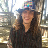 Upcycle Patwork Hat w/ Rainbow 13 Point Bolt Embroidery