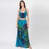 JHADA SKIRT - Rayon Spandex Mudmee Tie Dye Paneled Maxi Skirt