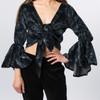DREAMBELL TOP - Velour Tie Dye Gypsy Wrap Top