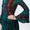 MINX TUNIC - Rayon Spandex Tie Dye Super Bell Sleeve Fringe Tunic