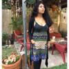 HAILEY DRESS - Rayon Crepe Print and Cotton Mini Dress