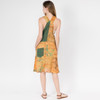 Patchwork Janet Dress Shown In Marigold Over Dye
