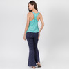 Cleo Top Shown In Teal With OM Print