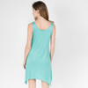 Beatrice Dress Shown In Teal With Moon  Dream Catcher Print