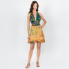 Patchwork Gracie Skirt Shown In Marigold(Yellow) Over Dye