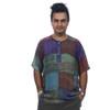 JOSHUA SHIRT - Ram Nam Patchwork Overdye Short Sleeve Men's Kurtha