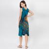 ROWAN DRESS - Rayon Spandex Open Front Lace Up-Back Cawl Mini Dress-Mudmee