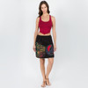 CHINA DOLL SKIRT - Cotton Razor Cut Mini Skirt With Attached Pocket And SYF Applique-Black