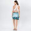 HIGH TIME SKIRT Cotton Lycra Batik Mini Skirt With Pockets & Bear or Rose Design
