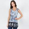 JUST A LITTLE LIGHT TOP Cotton Lycra Batik Long Tank Top