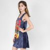 Navy Cotton No Time Tank Dress With Mushroom & Peace Sign