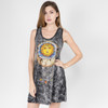 WOMEN'S SUN MOON DRESS Black Cotton No Time Tank Dress