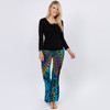 VANECIA PANTS Rayon Spandex Mudmee Tie Dye Side Ruffle Flair Pants