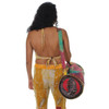 Cotton Stonewashed Duffel Bag with Razor Cut Side Detail, Tie Dyed Body and SYF Applique