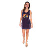 THE OTHER ONE DRESS Cotton Lycra Grateful Dead Mini Dress w/ Tie Dye Cut Out SYF, Outer Stitching & Pockets