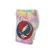 MIRACLE SHORTS Cotton Lycra Pastel Tie Dye Grateful Dead Booty Shorts w/ Print