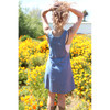 HOLLY DRESS Cotton Enzyme Washed Overall Mini Dress w/Pockets