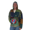BLOW AWAY SYF HOODY Cotton Patchwork Hoody w/ Rose SYF Embroidery