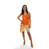 MORNING DEW DRESS Viscose Tie Dye Angle Cut Mini Dressw/ Bolt Embroidery