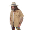 ON THE ROAD SHIRT Men's Cotton Button Up Short Sleeve Shirt w/ Stitching & Celtic SYF & Bolt Embroidery