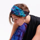Rayon Spandex Mudmee Tie Dye Wide Headband
