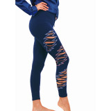 CASSIDY LEGGINGS Cotton Lycra Grateful Dead Leggings With Razor Cut Bolts And Print