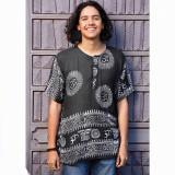 RAJ SHIRT Men's Cotton Om Print Short Sleeve Kurtha