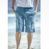 KEITH SHORTS Cotton Stonewash Cargo Shorts Solid & Striped