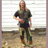MAX SHIRT Cotton Men's Stonewash Patchwork Short Sleeve Kurtha