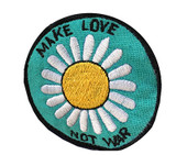 Embroidered patch Make Love Not War (3 inches)