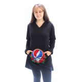 BROKEDOWN PALACE DRESS Grateful Dead   Hooded Dress 100% Cotton With Long Sleeves, Pocket And SYF Embroidery