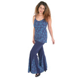 BLUEBELL PANTS Cotton Lycra Grateful Dead Pants with Bolt, Bear or SYF Print Panels