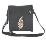 Grateful Dead Cotton Square Shoulder Bag With Tie Dyed Bolt