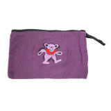 Grateful Dead Cotton 6x4 Coin Purse with Embroidered Bear, SYF or Bolt