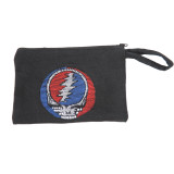 Grateful Dead Cotton 10x6 Coin Purse with Embroidered Bear, SYF or Bolt