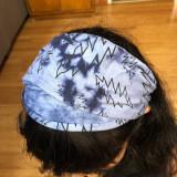 Grateful Dead Cotton Tie Dye Headband With Bolt Print