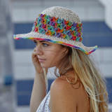 Hemp Crochet Rainbow Hat-Assorted