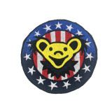 Grateful Dead Medium Embroidered Patch Bear with Stars & Stripes